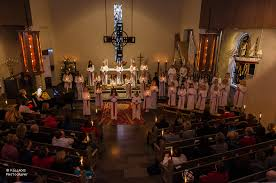 file st lucia s day celebration in the church of borgholm sweden