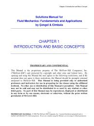 fundamentals of fluid mechanics cengel cimbala solutions chap01