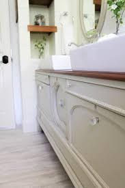 Build Bathroom Vanity by How To Transform A Vintage Buffet Into A Diy Bathroom Vanity
