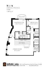 two bedroom plus flex room floor plans river595
