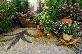 Tropical Potted Plants Outdoor - 29 serene garden patio ideas and designs picture gallery
