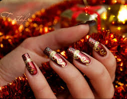 exquisite christmas nail art your next holiday mani u2013 the upcoming