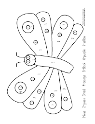 very hungry caterpillar simple very hungry caterpillar coloring