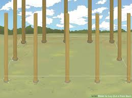 Setting Pole Barn Posts How To Lay Out A Pole Barn 11 Steps With Pictures Wikihow