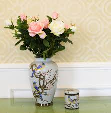 chinese modern ceramic types of flower vase painting designs