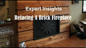 How To Reface A Fireplace by Refacing A Brick Fireplace Youtube
