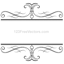 calligraphy ornamental frame vector graphics 123freevectors