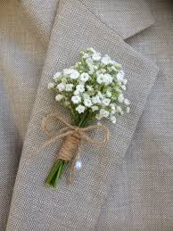 wedding boutonniere rustic boutonniere baby s breath boutonnieres mens white