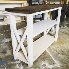 White Entry Table by Warmth Of Decorations Rustic Entry Table Wood Furniture