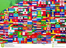 Flag Displays International Flag Display Of Various Countries Stock Photo