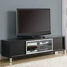 simple black led tv right for unusual tv stands on wood floor with
