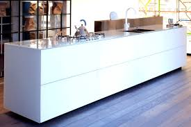 gloss curved kitchen with island ex display showy breathingdeeply