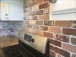 Backsplash Tile For Kitchens Cheap Kitchen Cheap Backsplash Tile Fake Brick Wall Diy Faux Exposed