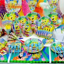 spongebob birthday party theme decorating of party