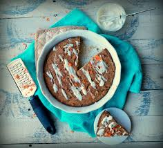 ginger carrot cake with vanilla glaze