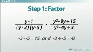multiplication and division of rational expressions worksheets
