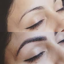 blended hair strokes thick brow