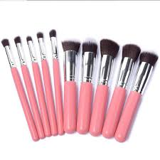 6 colors women u0027s 10 pcs professional soft cosmetic makeup brushes
