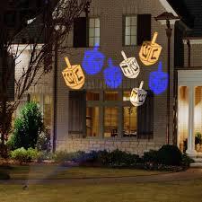 christmas motion light projector holiday indoor outdoor hanukkah motion light show jewish dreidel