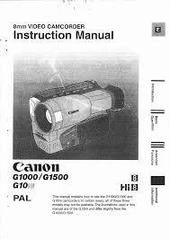 canon camcorder g 1500 user guide manualsonline com