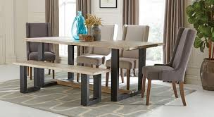 coaster levine rectangular dining set weathered grey levine