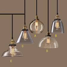 Buy Light Fixture Nordic Vintage Glass Pendant L American Country Kitchen Lights