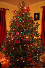 trees with colored lights u happy holidays tree decoration ideas