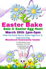 easter egg sale customizable design templates for easter bake sale template