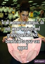 Sex Appeal Meme - all women on cus do not wear leggings and granny panties not