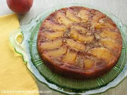 peach upside down cake grain free gluten free homemaker