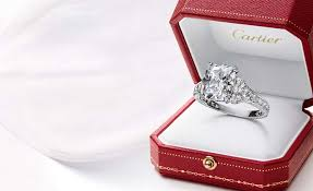 wedding rings in box cartier engagement ring box the looking glass