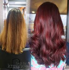 coke blowout hairstyle image result for before and after brown hair to red hair beauty