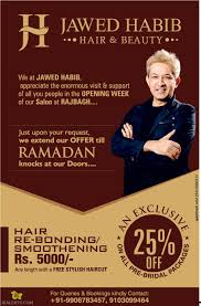 jawed habib hair u0026 beauty offer 25 off jkalerts jammu and