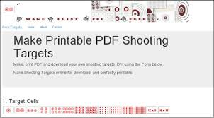 printable shooting targets pdf create and print your own custom pdf targets daily bulletin