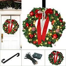 outdoor christmas garland with lights amazon com christmas wreath large christmas wreath with led