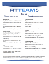 Fitteam Fit Stick 5 Day Meal Plan U2013 Fitteam Weight Loss