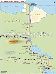 location canap suez canal map