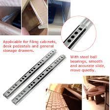 2pcs metal drawer ball bearing slide mute guide track 8 16inch