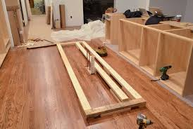 Installing Base Cabinets On Uneven Floor How To Install Kitchen Base Cabinets Home Design Ideas