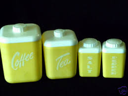 antique canisters kitchen yellow plastic canisters with salt pepper shakers lusterware