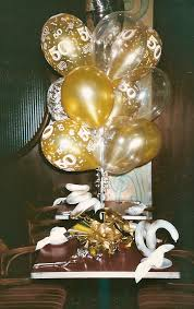 Centerpieces 50th Birthday Party by 50th Wedding Anniversary Centerpieces Balloons For 50th