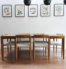 Best Mid Century Dining Rooms Images On Pinterest - Danish teak dining room table and chairs