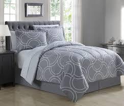 Comforter Set With Sheets 8 Piece Carlisle Gray Comforter Set With Sheets