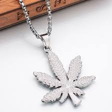 long leaf necklace images 2017 new iced out weed necklace pendant silver plated maple leaf jpg