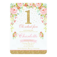 pink and gold invitations u0026 announcements zazzle