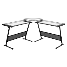 L Shaped Black Glass Desk L Shape Glass Desk Deboto Home Design Best Glass L Shaped Desk