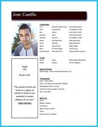 Sample Acting Resumes by Free Resume Templates 87 Enchanting Download Template Microsoft