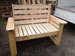 Build Wood Garden Bench by Pallet Garden Bench