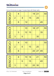 Times Tables Worksheet Times Table Bingo