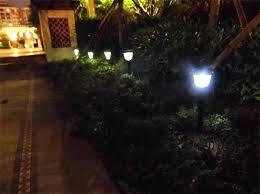 outdoor lights garden fence lights outdoor lights for fence modern solar pillar